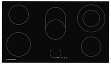 EMS 901 Электрич. независимая варочная поверхность стеклокерамическая, ширина 90 см, цвет: чёрный