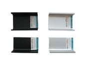 Комплект образцов ситемы GOLA FIRMAX L=100мм( L-обр. 2шт.+ П-обр. 2 шт.), алюминий, серебро+черный