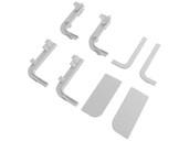 Комплект соединителей и торцевых заглушек Г-образного профиля FRM9200 Gola FIRMAX(8частей), пластик, белый