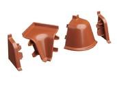 Комплект соединителей к бортику 118 / SB 135 96149 коричневый