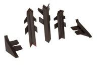 Комплект соединителей к бортику Перфетто-лайн / SB 135 74168 коричневый