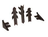 Комплект соединителей к бортику Перфетто-лайн /   SB 135 96102 коричневый