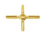 Крест пластиковый декоративный Germanella золото