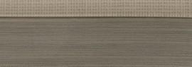 Кромка 3D текстиль серебро глянец 23х1 мм, PMMA, двухцветная ALVIC