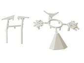 Комплект соединителей треугольного пристеночного бортика ALPHALUX (6 частей), пластик, белый