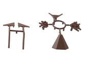 Комплект соединителей треугольного пристеночного бортика ALPHALUX (6 частей), пластик, темно коричневый