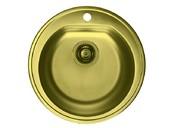 Мойка Alveus Form 30 бронза, диаметр 510мм, глубина 185мм(+сифон)