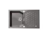 Мойка Alveus Sensual 30 granital, черный металлик, 850x520x198мм(+сифон)