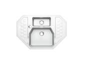 Мойка Alveus Sensual 60 granital, белый жемчуг, угловая 900x610x200мм(+сифон)