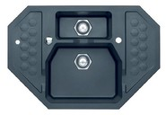 Мойка Alveus Sensual 60 granital, черный маталлик, угловая 900x610x200мм(+сифон)