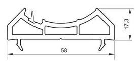 Накладка к трубе для ПВХ длина 6,5 м.  НП104 -   58/17,3