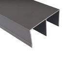 Направляющая верхняя FIRMAX, алюминий, янтарно-коричневый, 5800 мм