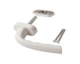 Оконная ручка HOPPE DRESDEN c блокирующим устройством KISI, 2 винта M5x55mm, белый, овальная розетка