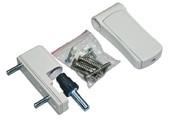 Петля регулируемая дверная VHS 3-D цинк 105 мм 9016