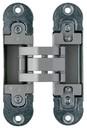 Петля скрытая, универсальная, 3D, 120x30 мм, 60 кг, цамак,  оцинкованный корпус + шарнирная часть цвета серебро матовое