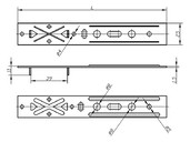 Анкерная пластина для дерева (190 мм)
