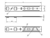 Анкерная пластина для профиля KBE (5-и камерный) [190 мм, 44 мм]
