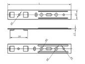 Анкерная пластина для профиля Salamander (28 мм, 165 мм)