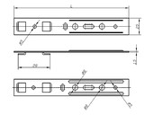 Анкерная пластина для профиля Salamander (28 мм, 190 мм)