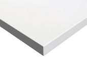 Плита МДФ LUXE 1220*18*2750 мм, глянец белый полар (Blanco Polar)