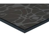 МДФ плита Luxe by Alvic (деко чёрный (Deco Negro) глянец, 1220x18x2750 мм)