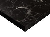Плита МДФ ZENIT 1220*18*2750 мм, суперматовый черный мрамор (Oriental Black Supermat ZENIT)