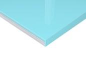 Плита МДФ Голубой 3505 глянец УФ-лак, 16*1220*2440 мм