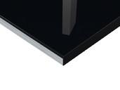 Плита МДФ Тон Черный 0424  глянец УФ-лак, 16*1220*2440 мм