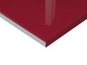 Плита МДФ Тон Винный Красный 0421  глянец УФ-лак, 16*1220*2440 мм