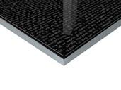 Плита МДФ Литера Неро 2302 глянец УФ-лак, 16*1220*2440 мм