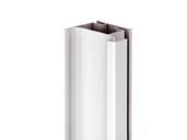 Профиль GOLA Alphalux вертикальный боковой(для шкафов из ДСП=16мм) L=4.5м., алюминий белый