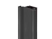 Профиль GOLA Alphalux вертикальный средний(для шкафов из ДСП=16мм) L=4.5м., алюминий черный