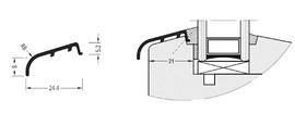 Профиль покрытия створок АЛЮСТАРТ, алюминий, коричневый