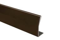 Профиль ручка для фасадов, серия BRIN, L=3000 мм, алюминий, бронза.