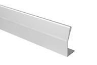 Профиль ручка для фасадов, серия BRIN, L=3000 мм, алюминий, серебро.