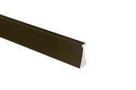 Профиль ручка для фасадов, серия FORT352, L=3000 мм, алюминий, бронза.