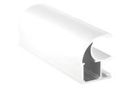 Профиль-ручка асимметричная, алюминий в ПВХ, белый глянец, 5400 мм