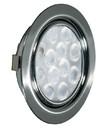 REPLIS-1 LED светильник врезной круглый, хром, 12V, теплый белый 3000K, 220Lm, 3W