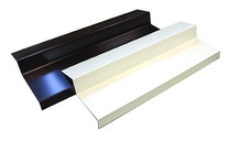 Алюминиевые отливы балконные BAUSET (B=135 мм, белый RAL9016)