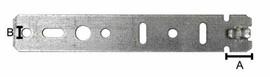Пластина анкерная для профиля Gutmann, 165 мм