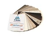 Образцы декоров HPL пластиков ALPHALUX для столешниц (34 декора) 12*8 см