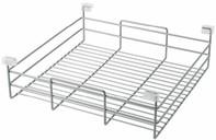 Корзина бельевая для выдвижной рамки Vibo (410x505x150 мм, серебро) [ACF40AL]
