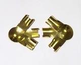 Соединение Г-образное Helima 2 части 8мм золотое