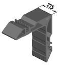 Угловая закладная, 27,5мм (W62)