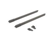 Рейлинги Firmax длина 450 мм, квадратные верхние для ящика Slimline + комплект из двух креплений, антрацит
