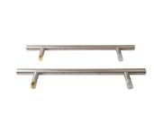 Прямоугольная ручка скоба дверная Medos SS (D=32 мм, 450 мм, L=650 мм, матовая) [114.SS.450.45]