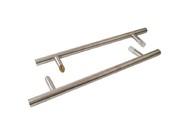 Ручка для алюминиевых дверей со смещением, комплект с креплением, L= 500, м/о= 300, D32, матов.
