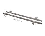 Ручка офисная прямая 1000мм с креплением, серебро