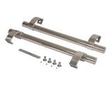 Прямоугольная ручка скоба дверная (D=32 мм, измен. м.о., нержавейка + хром)