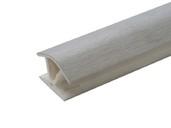 Соединитель 135гр. кухонного цоколя пластик Алюминий шлифованый L=1м FIRMAX